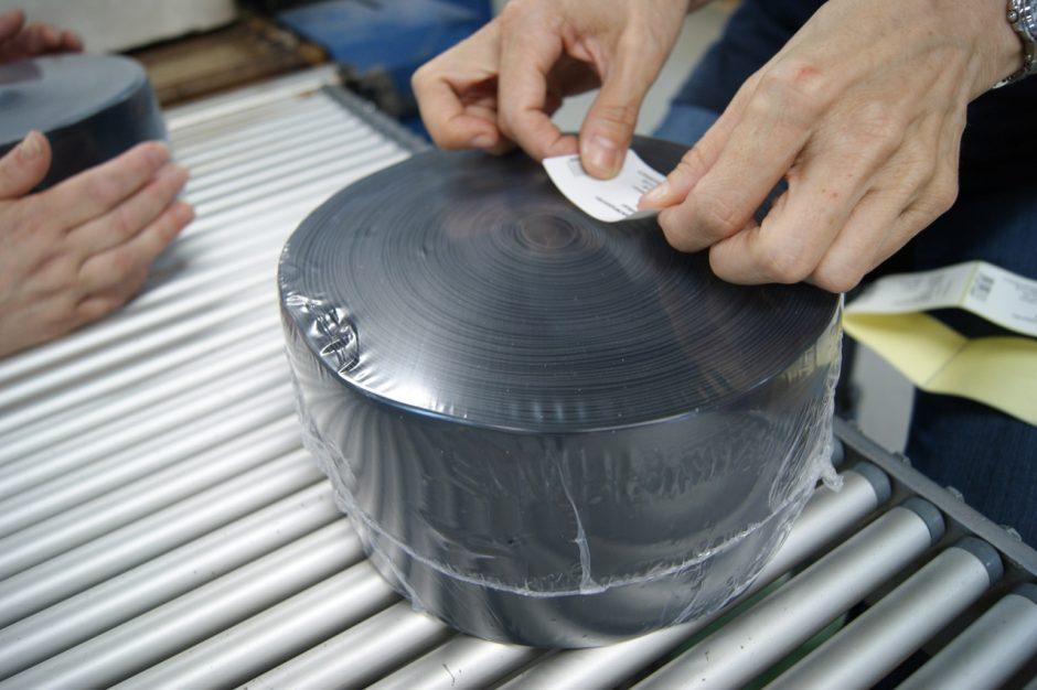 Etiketteren krimp voegband